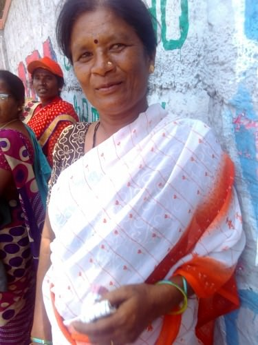 Shyama, the woman who patiently answered my questions.