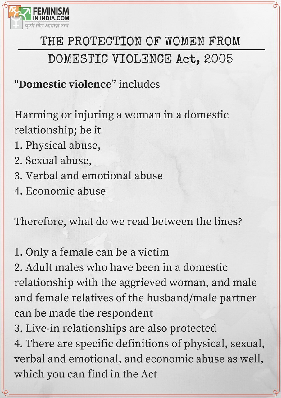 everything you need to know about the domestic violence act pwdva the protection of women from domestic violence act 2005
